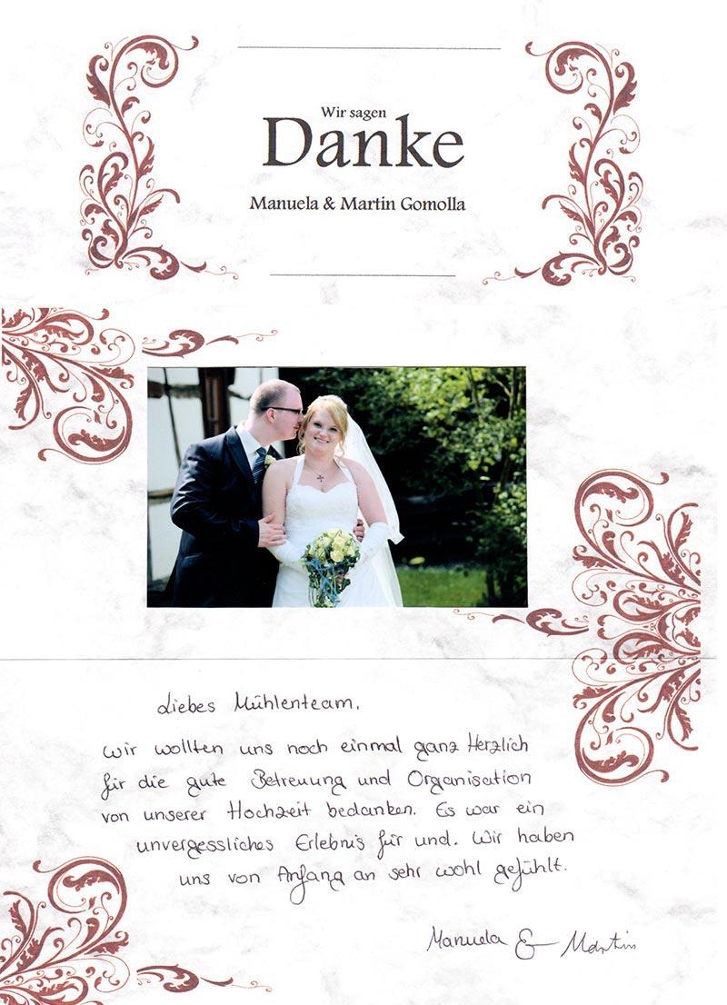 Die Hochzeit von Manuela und Martin